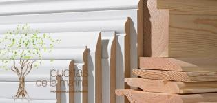 Rodapiés de madera y mdf (lacados en blanco)