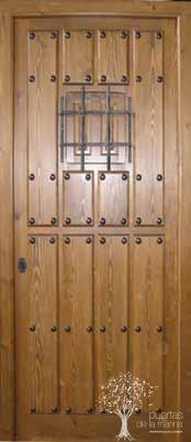 puerta rústica de iroko