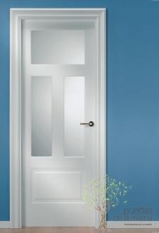 Puerta lacada blanca modelo UR-140-3VX