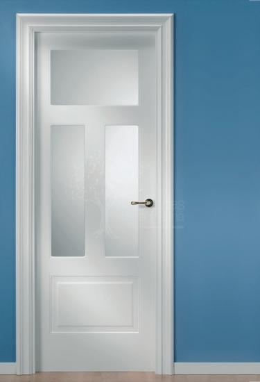 087v puertas de la marina for Puertas semi macizas blancas